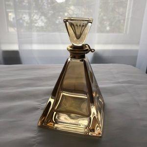 Vintage Decorative Glass Bottle with lid